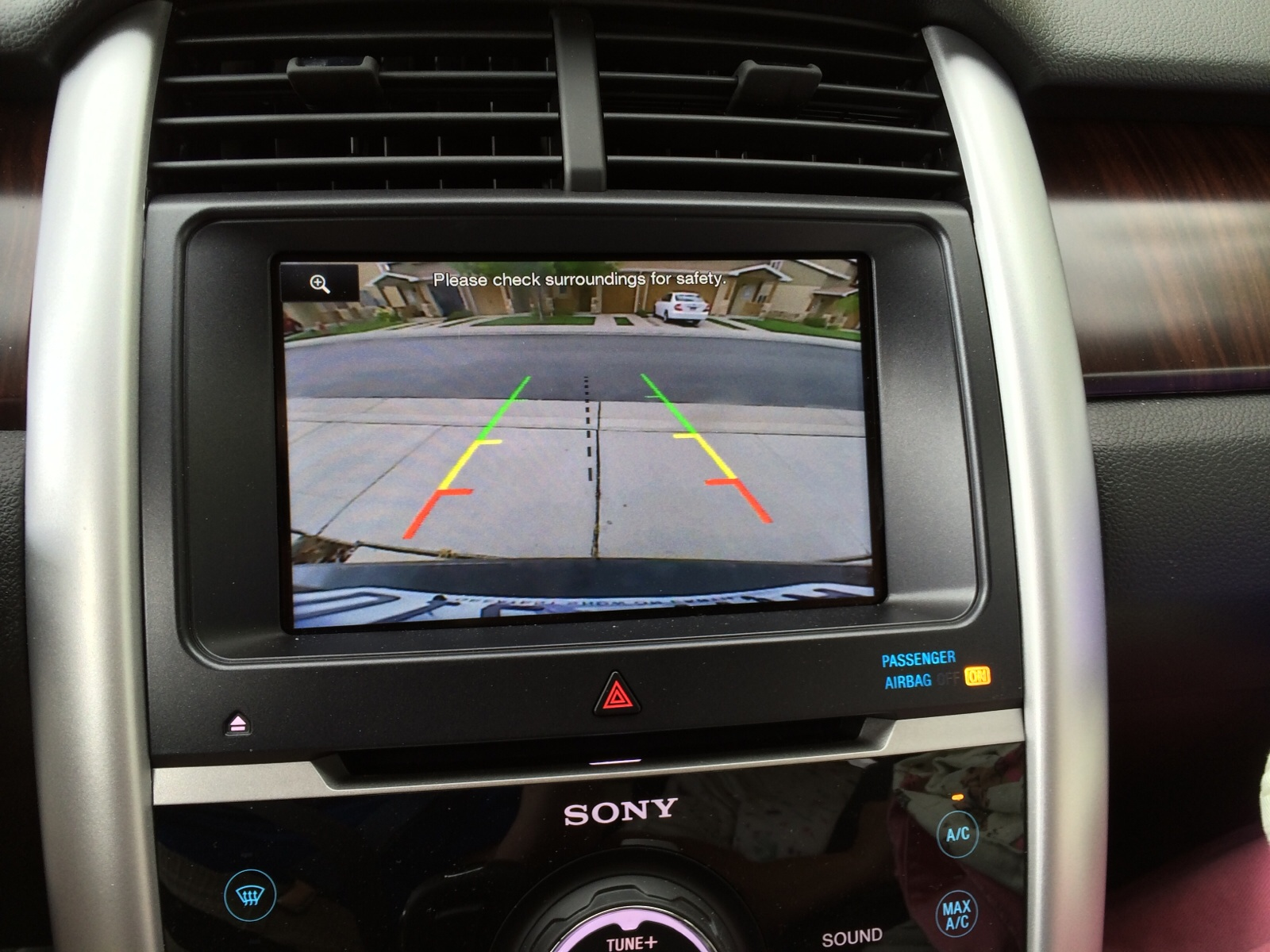 View Of Backup Camera