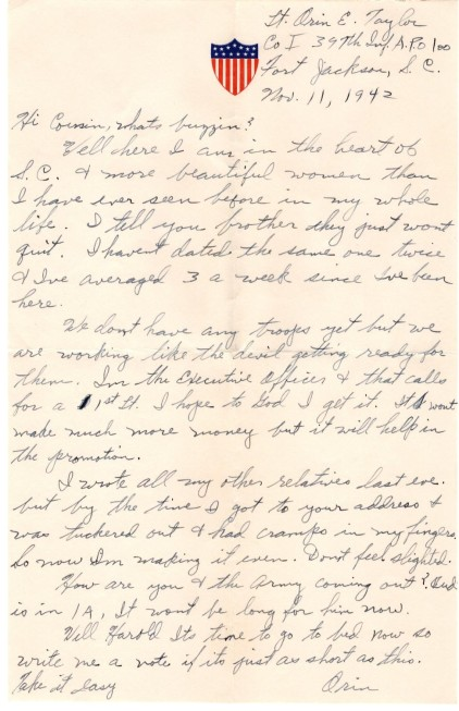 Letter to Harold 1942-page-001
